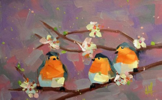 Анджела Моултон. Три малиновки весной