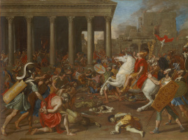 Nicola Poussin. The Destruction of the Temple in Jerusalem