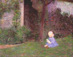 Перри. Ребенок в обнесенном стеной саду, Живерни