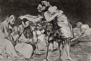 "Francisco Goya. A series of ""Disparates"", sheet 07: Nonsense marriage"