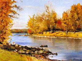 Пьер-Ив Ламарч. Река осенью