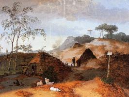 Йозефус Книп. Дюнный пейзаж в Нуланд