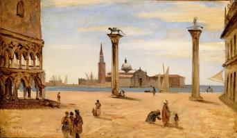 Камиль Коро. Венеция, Пьяццетта