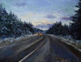 Tatyana Chekkasova. Road in the evening