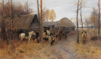 У лесной сторожки . 1899