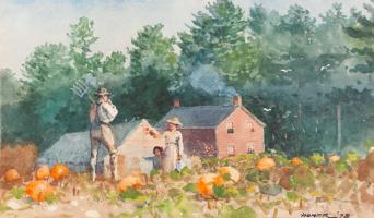 Winslow Homer. Pumpkin patch
