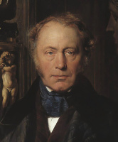Поль Деларош. Портрет графа. Голова