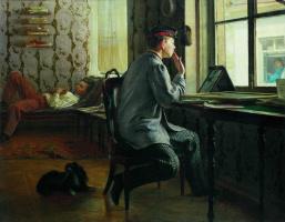 Илья Ефимович Репин. Приготовление к экзамену