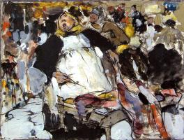 Nikolay Feshin. On the market. Sketch