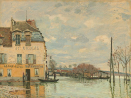 Alfred Sisley. Flood at port-Marly