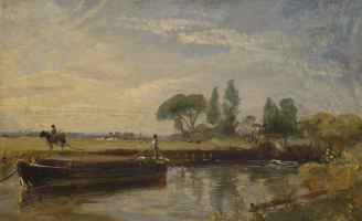 John Constable. Barge below Flatford Mill. Yale Center for British Art, New Haven.