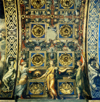 """Франческо Пармиджанино. Внутренний свод храма Санта-Мария-делла-Стекката с """"Тремя девами мудрыми"""""""
