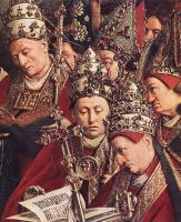 Ян ван Эйк. Гентский алтарь. Поклонение агнцу (фрагмент)