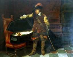 Cromwell at the coffin of Charles I