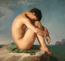 Ипполит Фландрен. Молодой человек на берегу