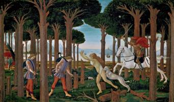 Сандро Боттичелли. Сцена из «Новеллы о Настаджо дельи Онести»