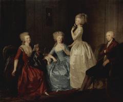 Иоганн Генрих Вильгельм Тишбейн. Портрет княгини Салтыковой с семьей