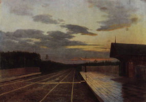 Isaac Levitan. The evening after the rain