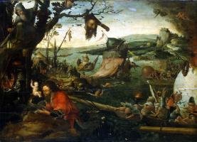 Ian Mandane. Landscape with the legend of Saint Christopher