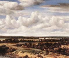 Филипс Конинк. Обширный пейзаж с дороги на руины