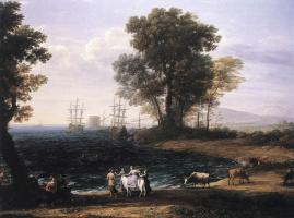 Клод Лоррен. Прибрежная сцена с похищением Европы