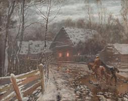 Николай Никанорович Дубовской. Ноябрьский вечер