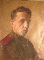 Неизвестный  художник. Портрет солдата. Холст/м