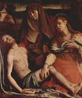 Аньоло Бронзино. Пьета или Оплакивание, сцена: Умерший Христос, Мария и Мария Магдалина
