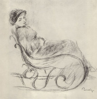 Pierre Auguste Renoir. The woman in the rocking chair