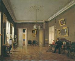 Prokofy Egorovich Pushkarev. In the rooms