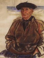 Zinaida Evgenievna Serebryakova. The old fisherman