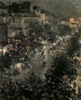Константин Алексеевич Коровин. Париж ночью. Итальянский бульвар
