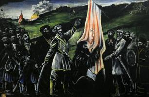 Нико Пиросмани (Пиросманашвили). Георгий Саакадзе спасает Грузию от врагов