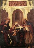 Людовико Маццолино. Мадонна с младенцем и святыми