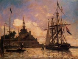 Ян Бартолд Йонгкинд. Корабли вдалеке