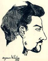 Сюзанна Валадон. Портрет Утрилло в профиль