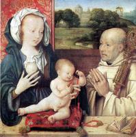 Йос ван Клеве. Мадонна с младенцем и с донатором-доминиканцем