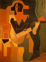 Хуан Грис. Арлекин с гитарой