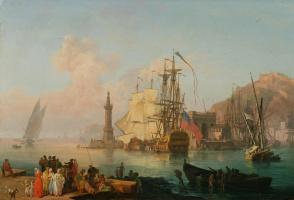 Пьер-Жак Волер. Воображаемый вид на гавань Неаполя.