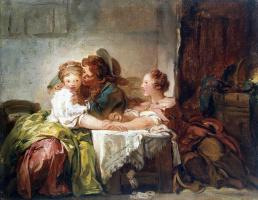 Жан Оноре Фрагонар. Выигранный поцелуй