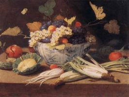 Jan van Kessel Elder. Still life with vegetables