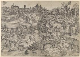 Lucas Cranach the Elder. Deer hunting