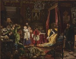 Ян Матейко. Смерть Зигмунта Августа в Кнышине в 1752 году