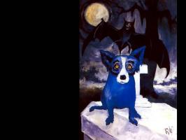 George Rodrigue. Blue собака002