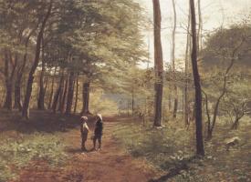 Нильс Кристиан Хансен. Прогулка в лесу