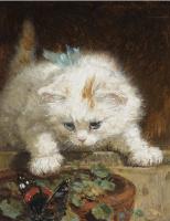 Генриетта Роннер-Книп. Котенок наблюдает за бабочкой