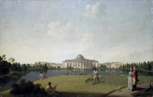 Бенжамен Патерсен. Вид Таврического дворца со стороны сада