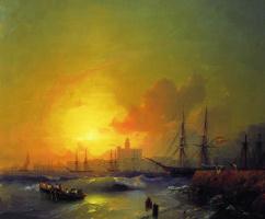 Ivan Aivazovsky. Malaga. Seascape