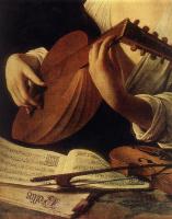 Микеланджело Меризи де Караваджо. Лютнист. Фрагмент