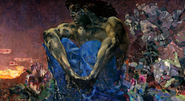 Mikhail Vrubel. The demon sitting